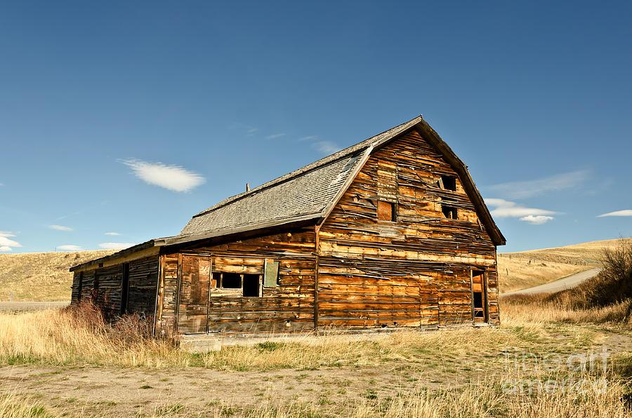 Montana Photograph - Historic Community Hall by Sue Smith