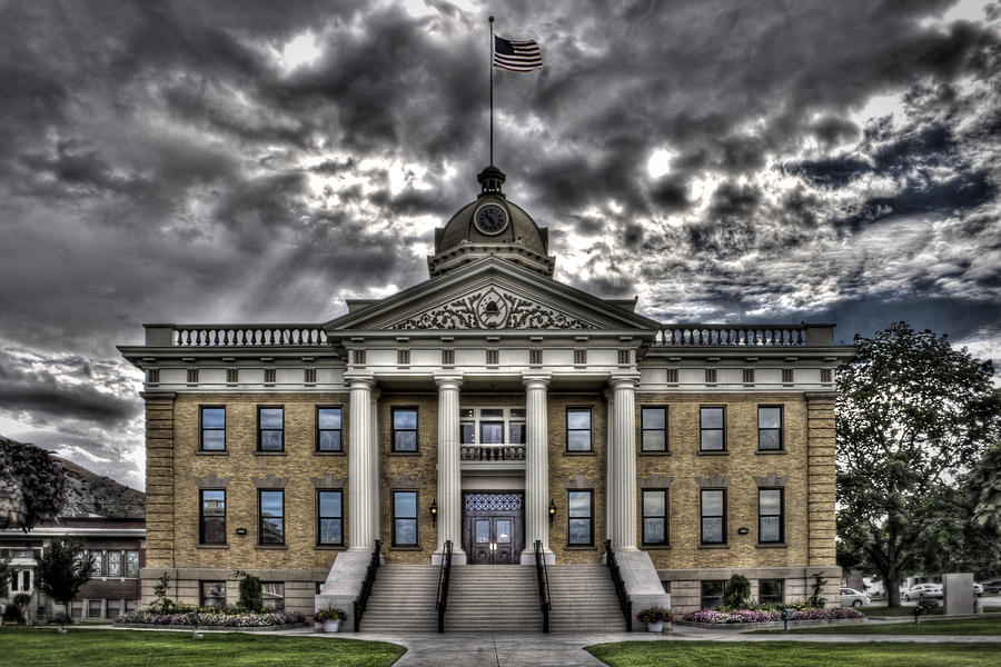 Historic Photograph - Historic Courthouse by Jim Speth