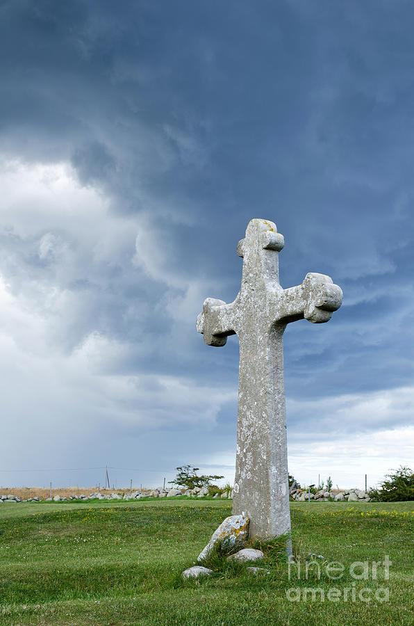 Ancient Photograph - Historic Cross by Kennerth and Birgitta Kullman