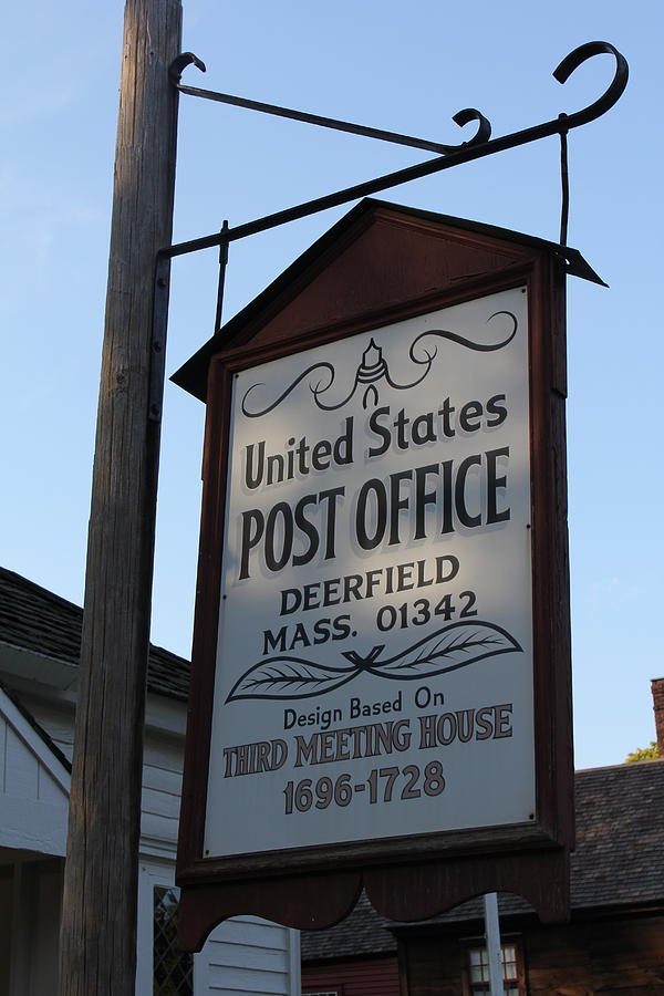 Deerfield Photograph - Historic Deerfield Post Office by DustyFootPhotography