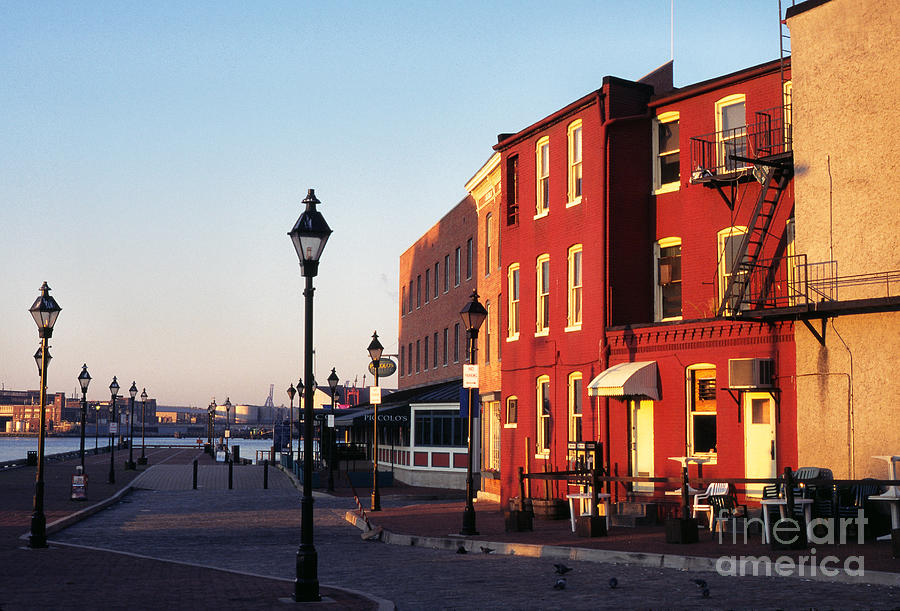 Early Morning Photograph - Historic Fells Point by Thomas R Fletcher