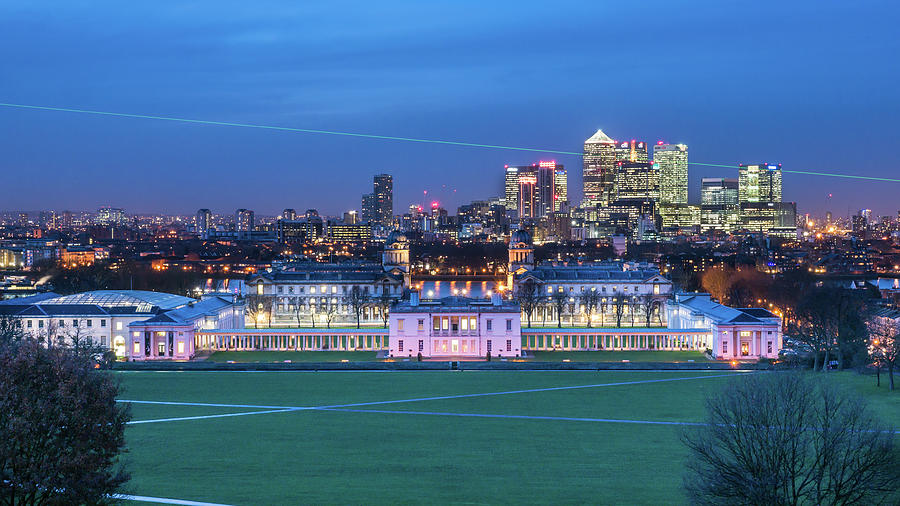 Historic Greenwich And Canary Wharf Photograph by Michael Lee