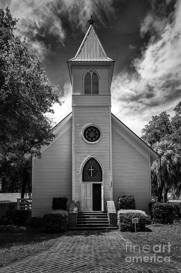 Historic Mcintosh Methodist Church Photograph - Historic Mcintosh Methodist Church by Lynn Palmer
