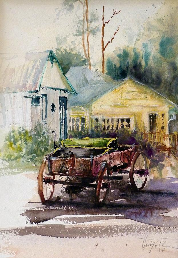 Watercolor Painting - Historic Park Punta Gorda Florida by Christa Friedl