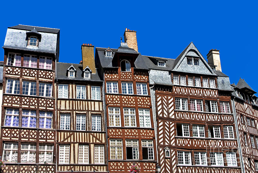 Architectural Photograph - Historic Rennes by Jane Rix