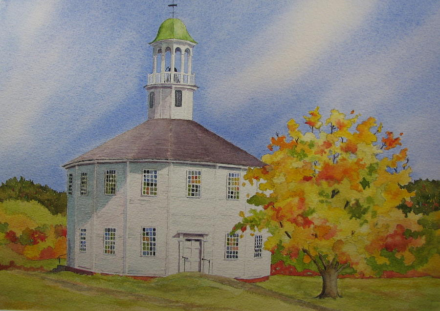 Richmond Painting - Historic Richmond Round Church by Mary Ellen Mueller Legault