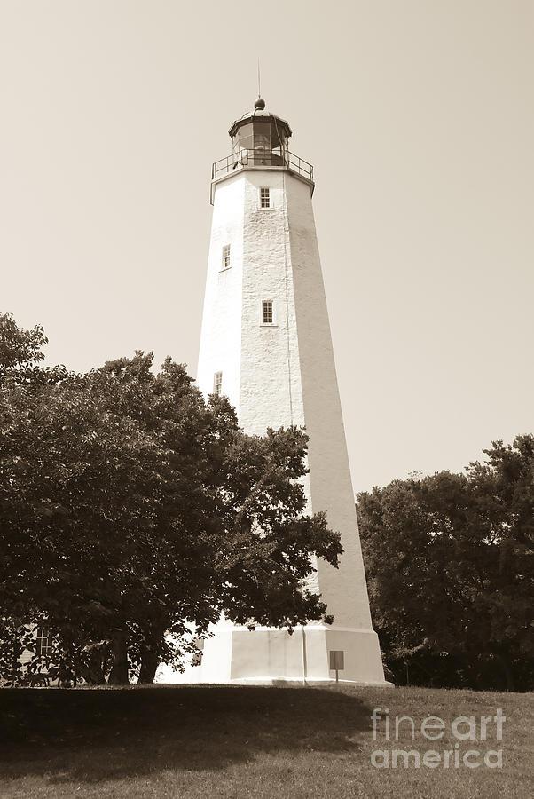 Lighthouses Photograph - Historic Sandy Hook Lighthouse by Anthony Sacco