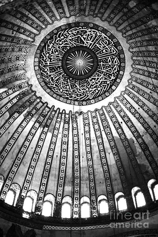 Historic Sophia Ceiling Photograph - Historic Sophia Ceiling by John Rizzuto