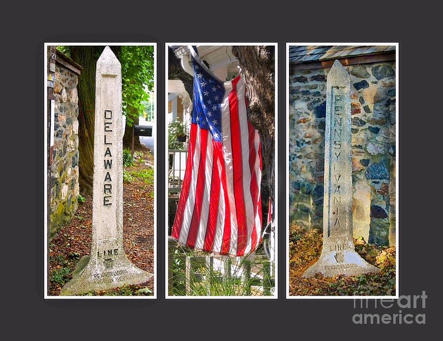 Flag Photograph - Historic State Line by Lori Amway