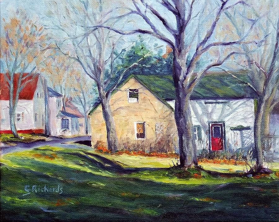 Landscape Painting - Historic Stone by Cathleen Richards-Green