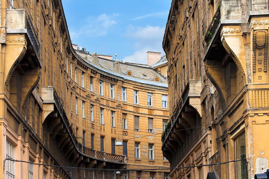 Building Photograph - Historic Tenement Houses In Budapest by Artur Bogacki