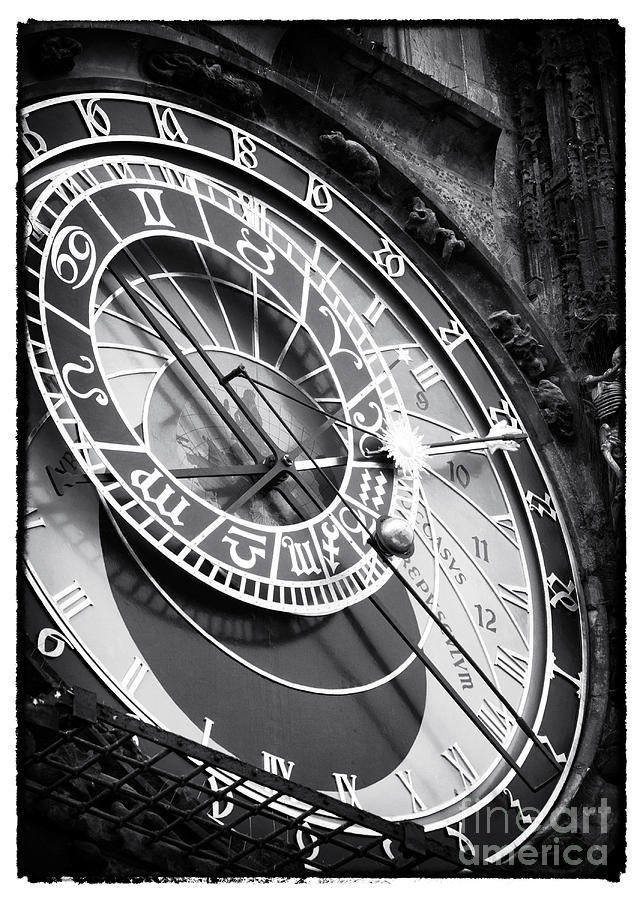 Prague Astronomical Clock Photograph - Historic Time by John Rizzuto