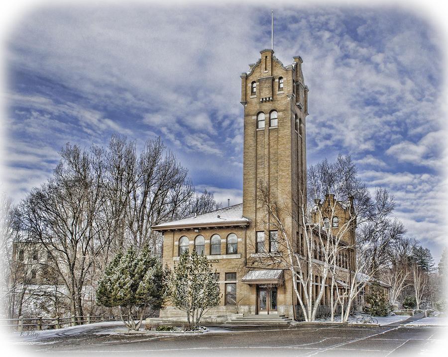 Missoula Photograph - Historic Train Station by Fran Riley