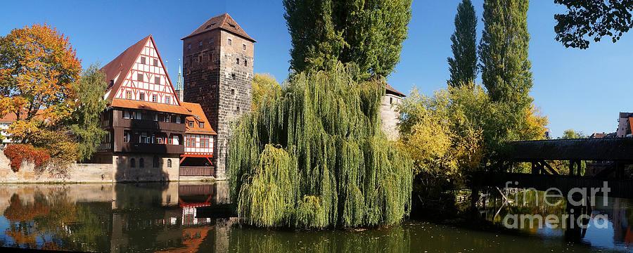 Europe Photograph - historic winestorage and executioner bridge in Nuremberg by Rudi Prott