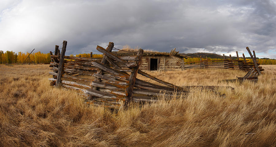 Beauty Photograph - Historical Cabin Montana by Leland D Howard