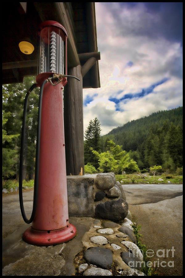 Historical Gas Pump by Karen Ulvestad