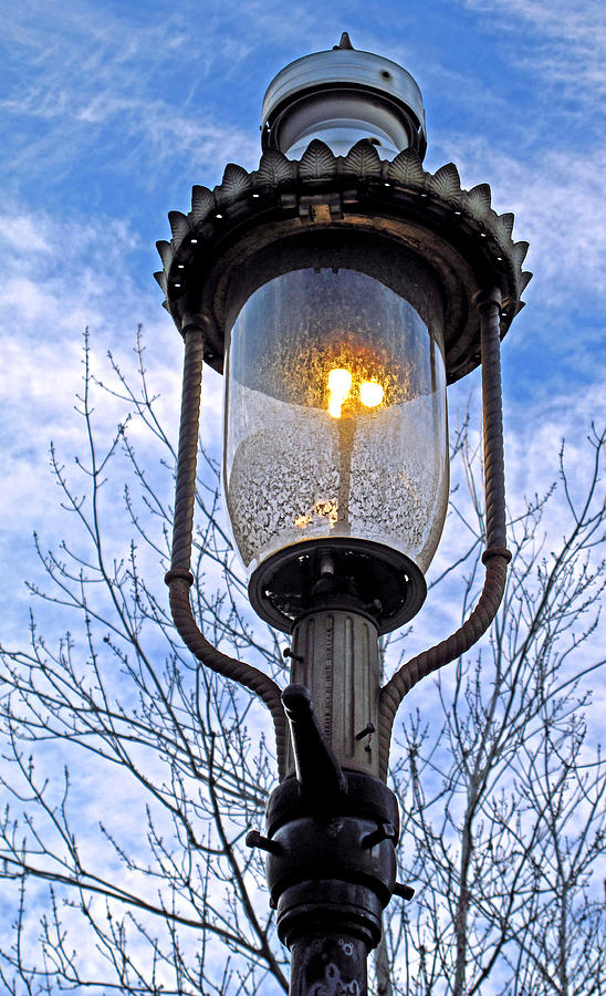 Historical Gas Street Lamp Photograph by Barbara McDevitt