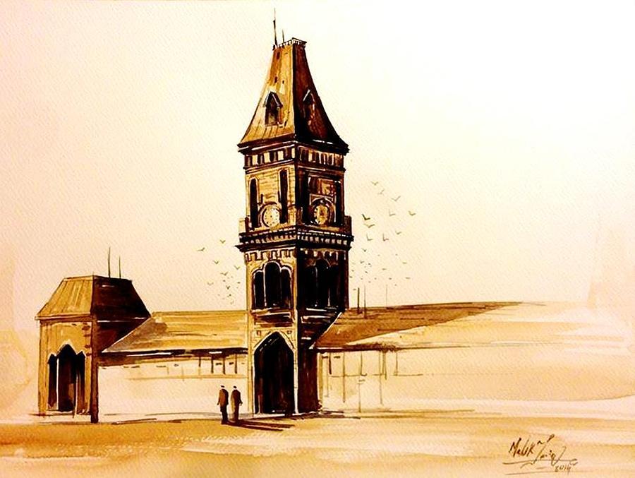Historical Place Of Pakistan  Painting by Malik Tariq