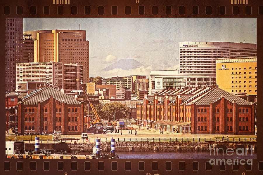 Mount Fuji Photograph - Historical Red Brick Warehouses by Beverly Claire Kaiya