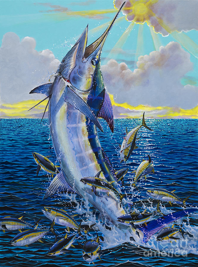 Marlin Painting - Hit And Miss Off0084 by Carey Chen
