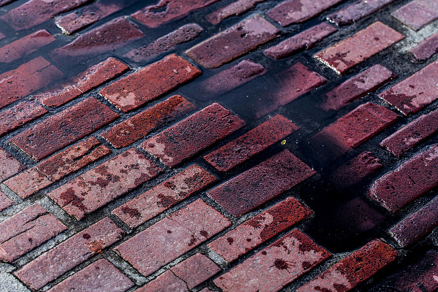Brick Photograph - Hit The Bricks by Andrew Pacheco