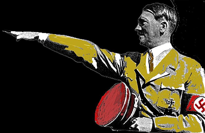 Hitler Saluting #1 Circa 1933-2012  Photograph by David Lee Guss