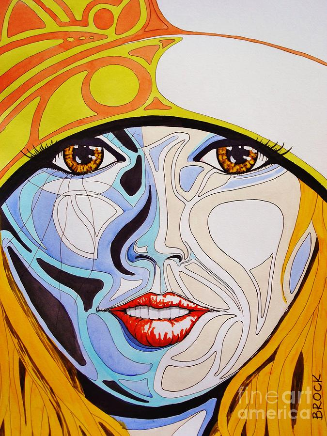 Art Deco Painting - Hittin The Slopes by Kyle  Brock