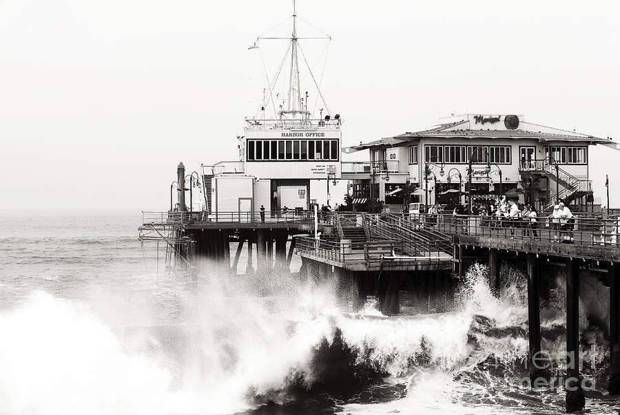 Hitting The Santa Monica Pier Photograph - Hitting The Santa Monica Pier by John Rizzuto