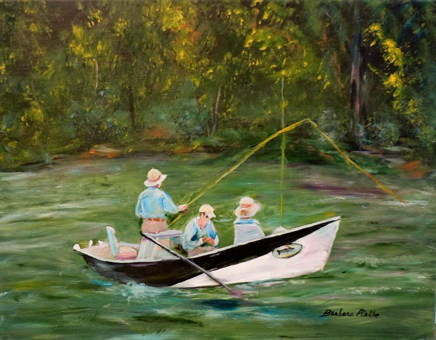 Boat Painting - Hiwassee Drifter by Barbara Pirkle
