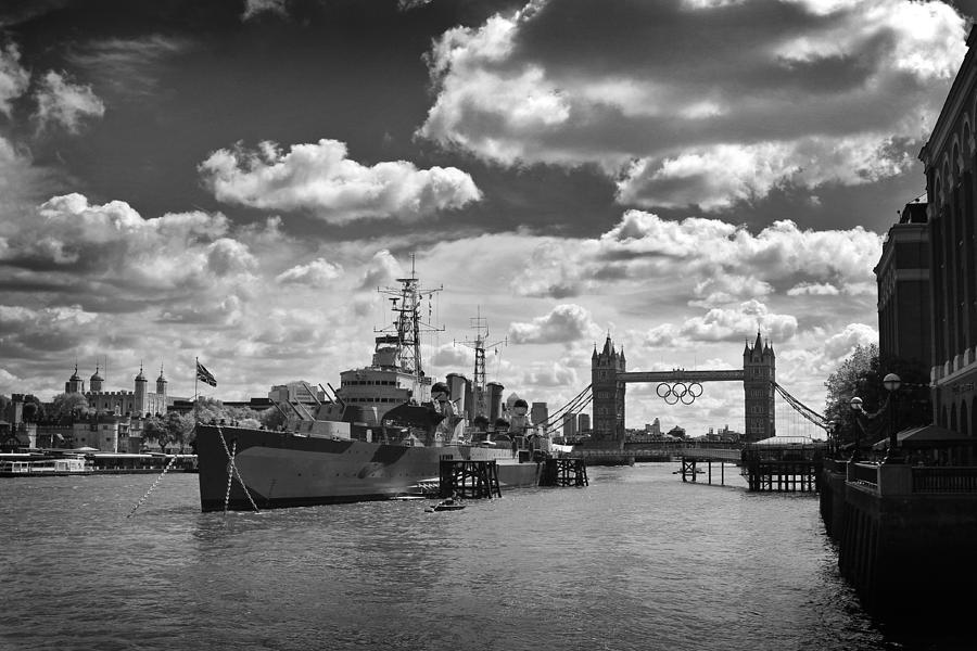 London Photograph - Hms Belfast London by Ed Pettitt
