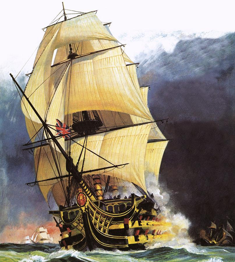 Hms Victory Painting - Hms Victory by Andrew Howat