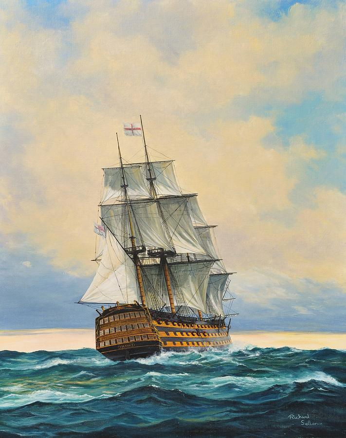 HMS victory Painting by Richard Sellence