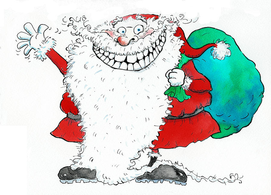 Smiling Painting - Ho Ho Ho by Maylee Christie