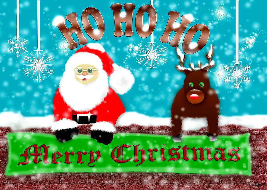 Ho Ho Ho Merry Christmas Digital Art by Mechala Matthews