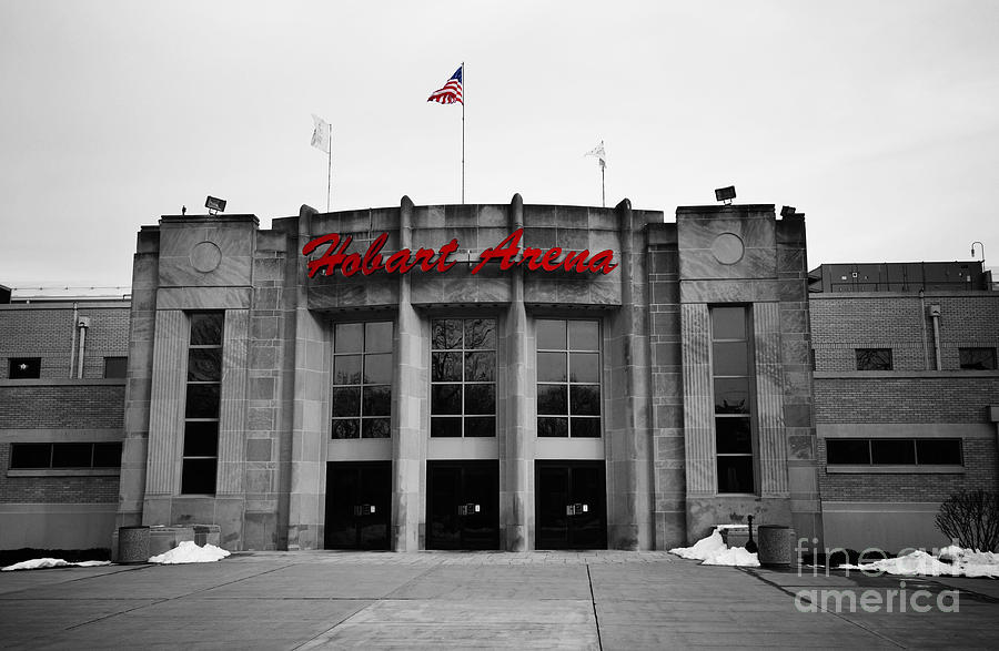 Arena Photograph - Hobart Arena In Black And White by Rachel Barrett