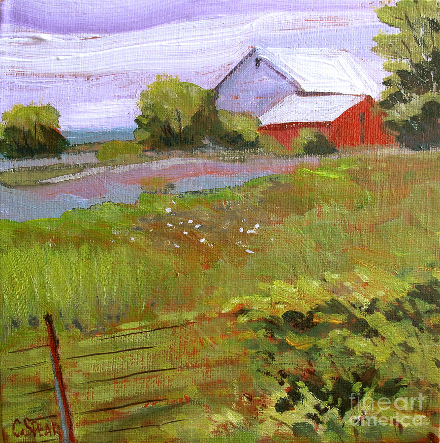 Landscape Painting - Hobbs Farm by Charlie Spear