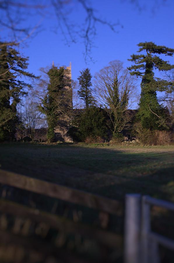 Tree Photograph - Hockering Church by Dave Woodbridge