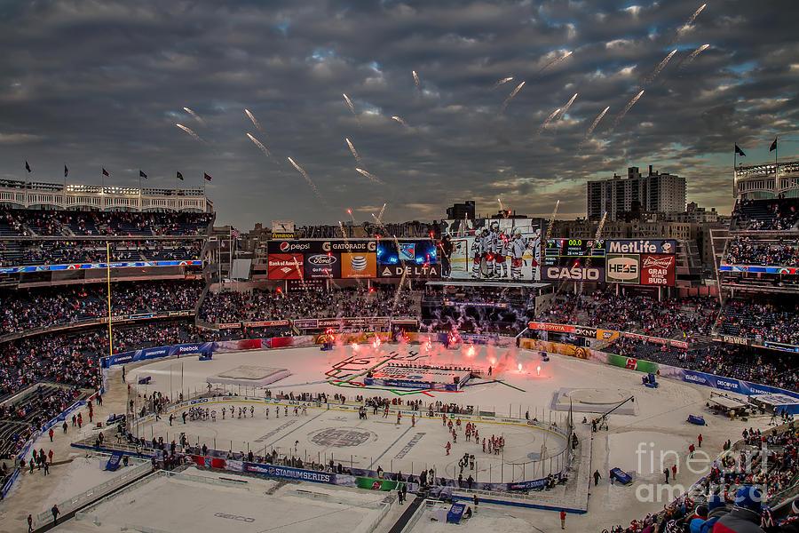 Hockey At Yankee Stadium Photograph