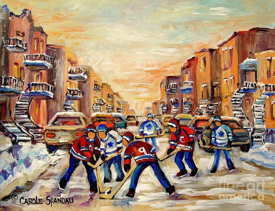 Hockey Painting - Hockey Daze by Carole Spandau