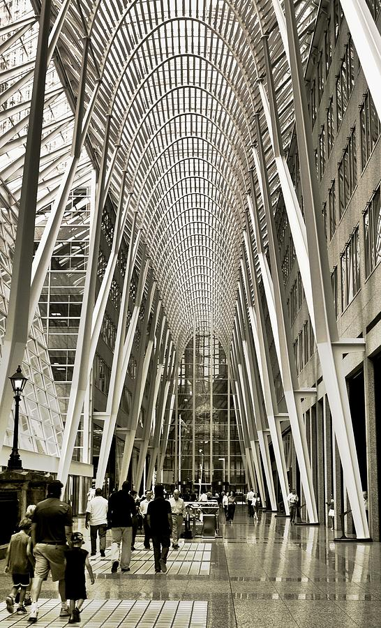 Architecture Photograph - Hockey Hall Of Fame - Galleria by Carson Buzdegan