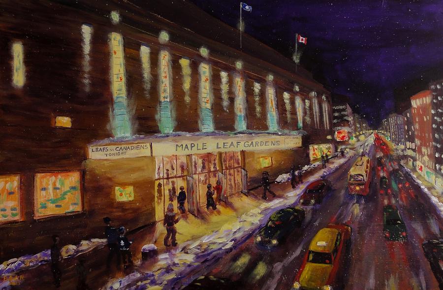 Hockey Painting - Hockey Memories - Maple Leaf Gardens by Brent Arlitt