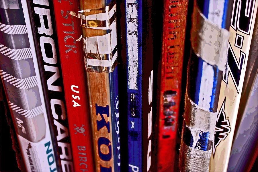 Hockey Sticks Photograph - Hockey Sticks by Carol Tsiatsios