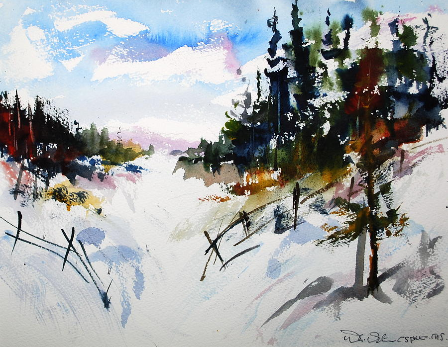 Hockley Valley Snows Painting by Wilfred McOstrich