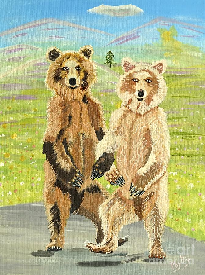 Alaska Painting - Hoedown On The Tundra by Phyllis Kaltenbach
