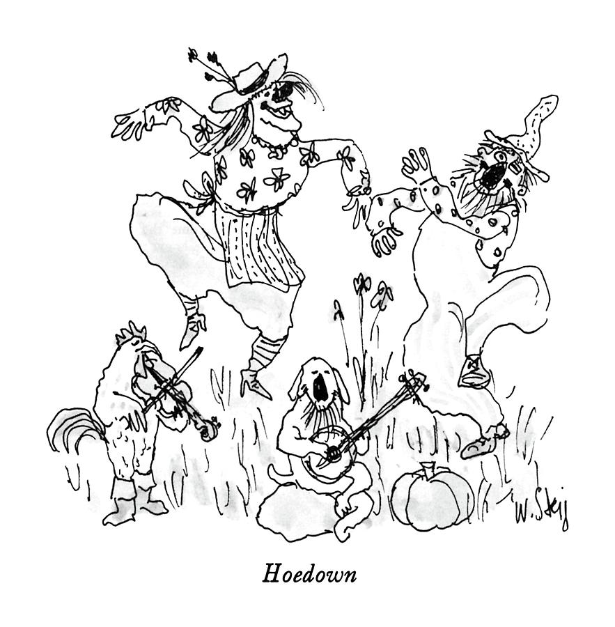 Hoedown Drawing by William Steig