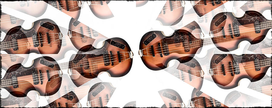 Hofner Photograph - Hofner Bass Abstract by Bill Cannon