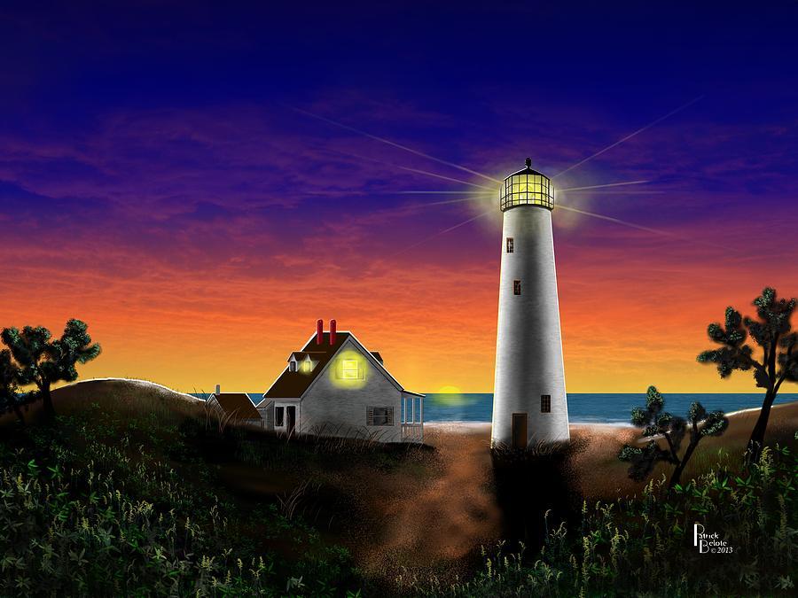 Eastern Shore Digital Art - Hog Island Sunrise by Patrick Belote