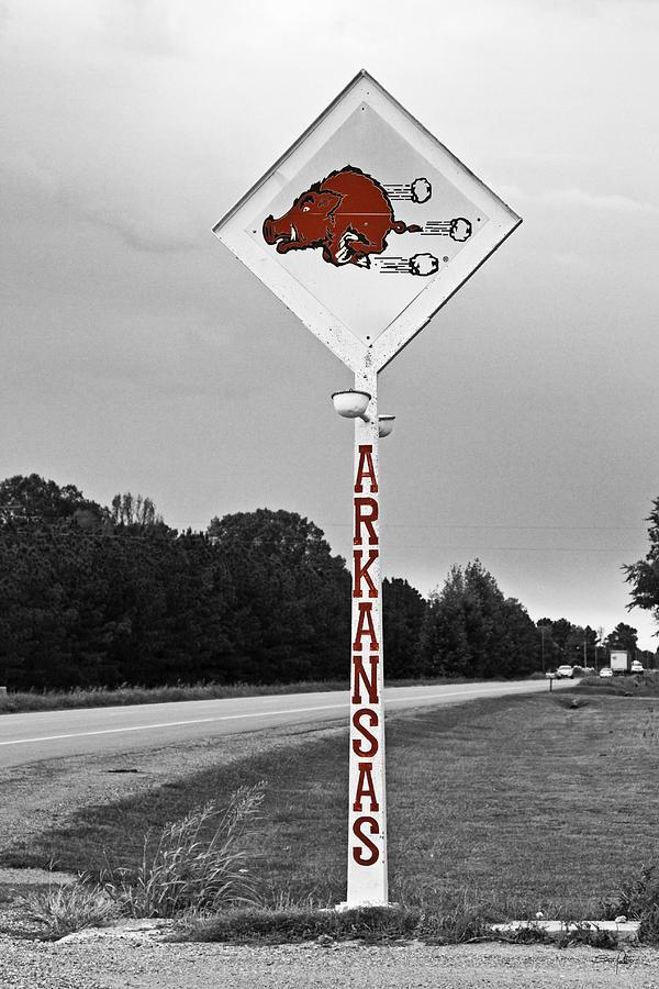 Arkansas Photograph - Hog Sign by Scott Pellegrin