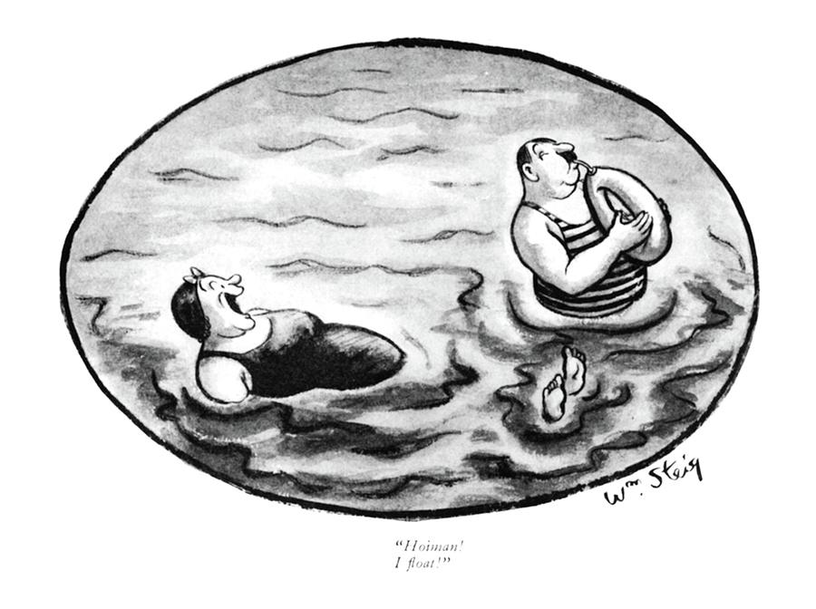 Hoiman I Float Drawing by William Steig