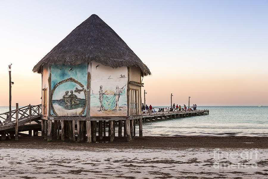 Holbox pier by Scott Kerrigan